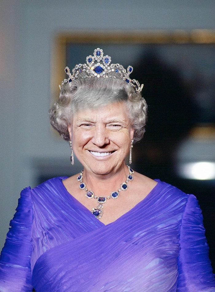 Resultatet om man korsar Donald Tump och Drottning Elizabeth 1