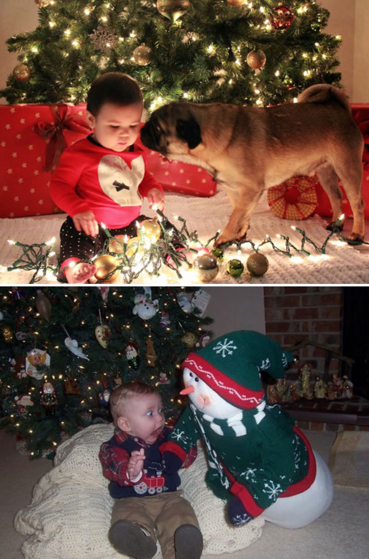 1. Förväntan vs verklighet - Julbild som blev totalt misslyckad
