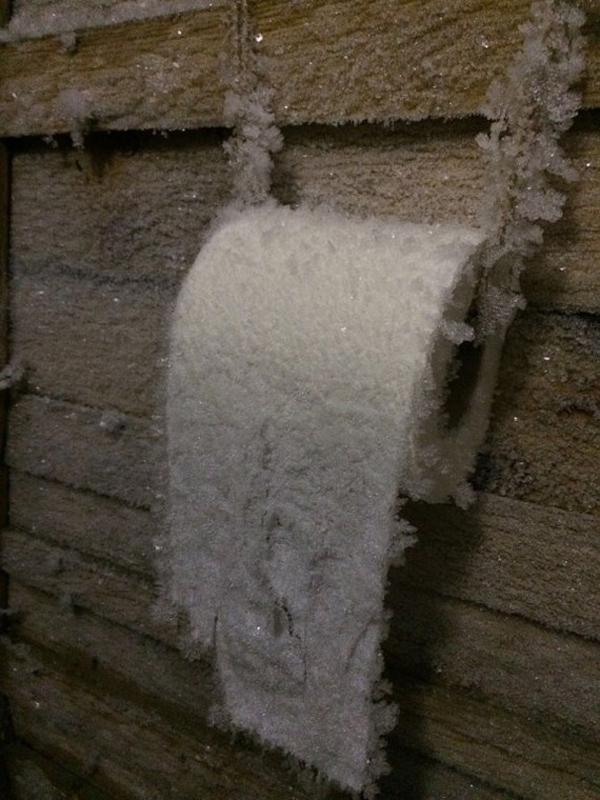 1. Du vet att det är kallt när det är frost toalettpappret