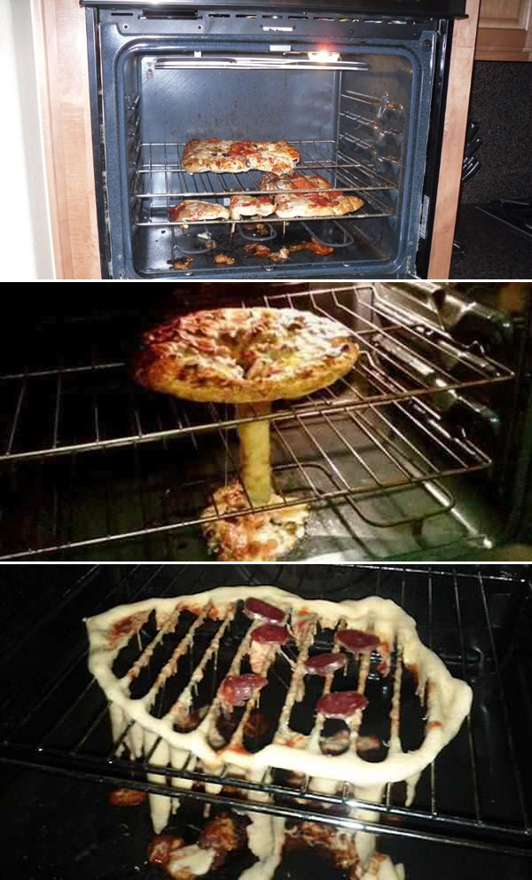 1. Bara en kille kan misslyckas med att värma på en pizza