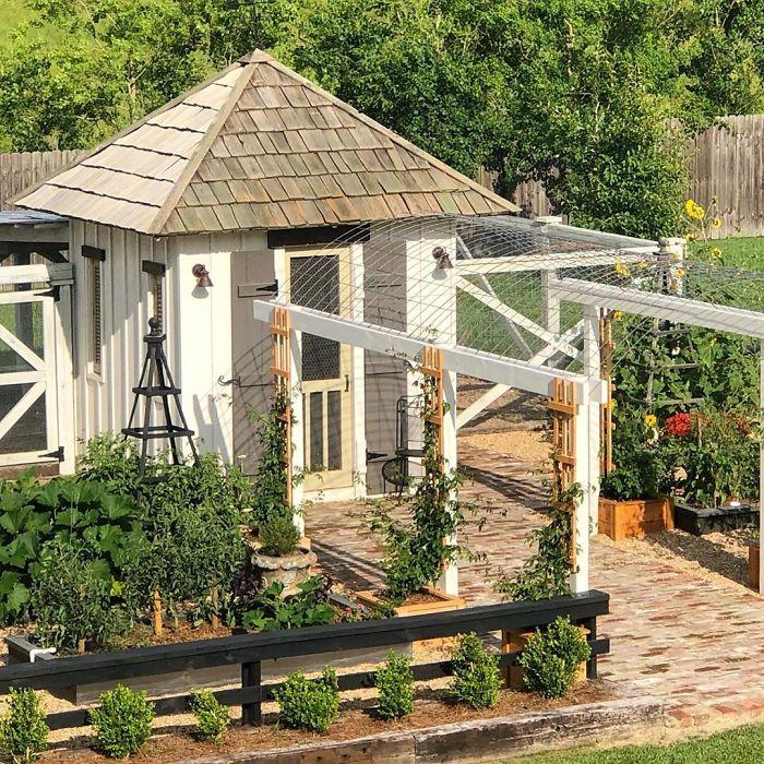 1. Ett litet fint kycklinghus med stängsel