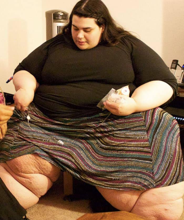 1. Så här såg hon ut när hon vägde som mest.