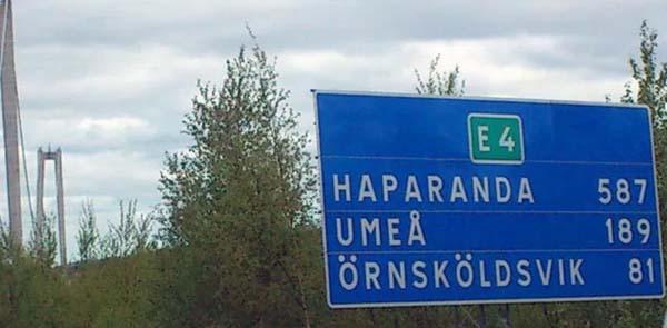 1. Det är nära överallt. Att bila 587 km till Haparanda är inga problem för en norrlänning.