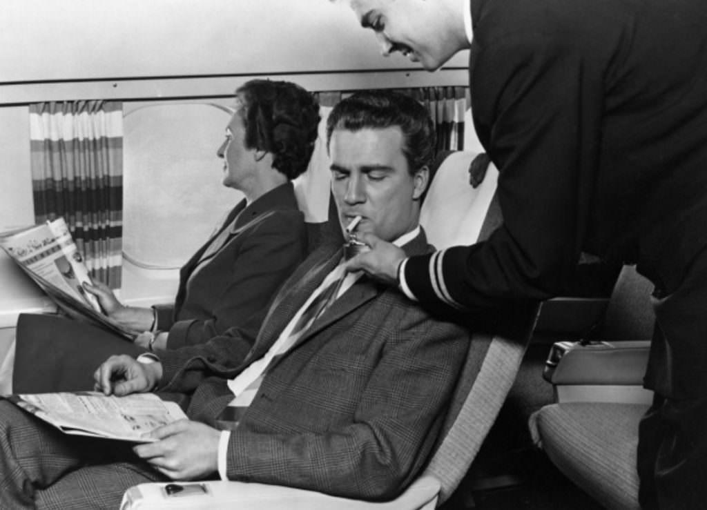 5. Rökning var förut tillåtet ombord
