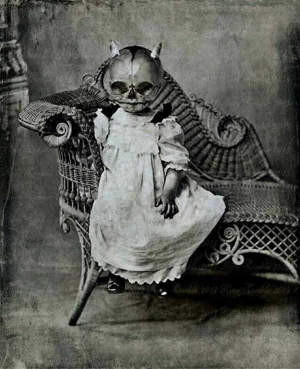 1. En liten superläskig flicka på Halloween