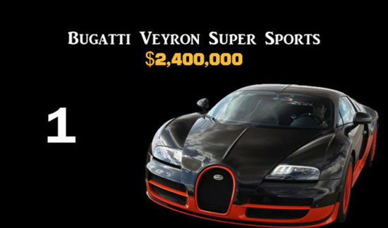 1. Bugatti Veyron Super Sport