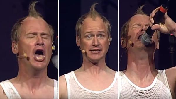 Robert Gustafsson som spelar Jonas Gardell - hur kul som helst