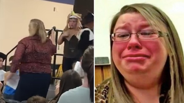 Mamman såg fram emot att titta på sonens skolpjäs – det lärarinnan gör då får hela internet att koka av ilska