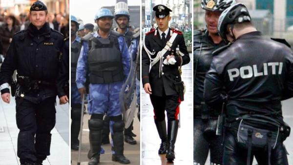 16 bilder som visar hur poliser ser ut runt om i världen