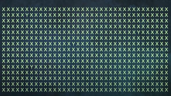 Utmaningen: Hitta 5st gömda 'Y' mellan alla 'X' inom 25 sekunder