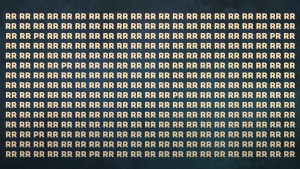 Utmaningen: Hitta 6st gömda 'PR' mellan alla 'RR' inom 25 sekunder